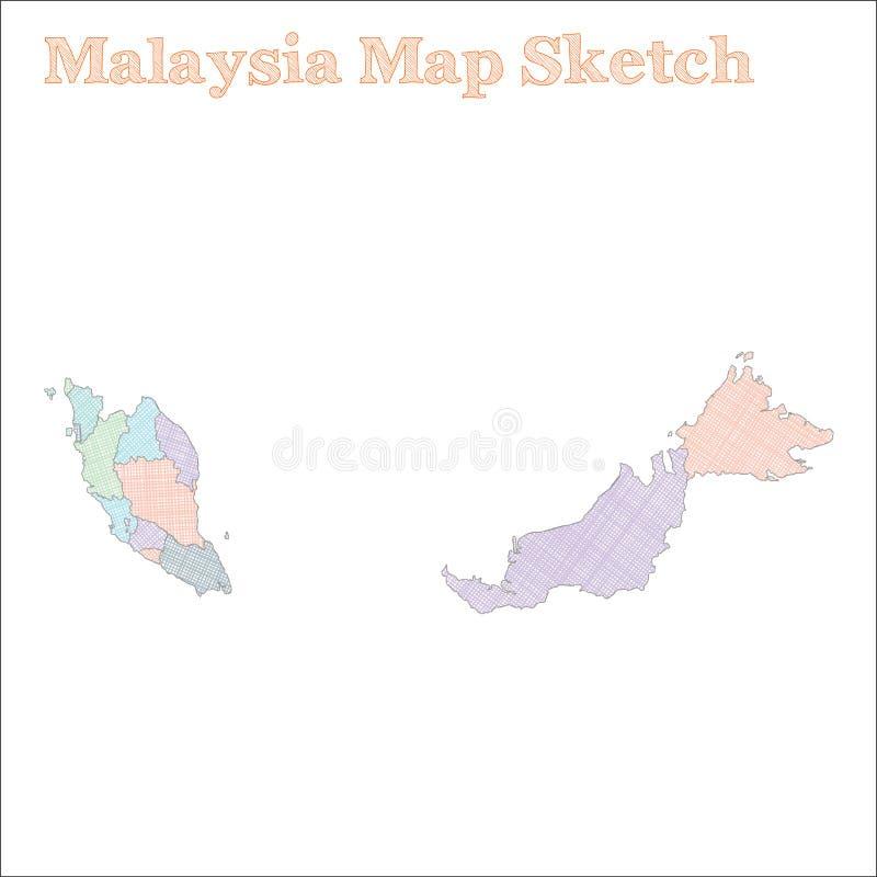 马来西亚地图 皇族释放例证