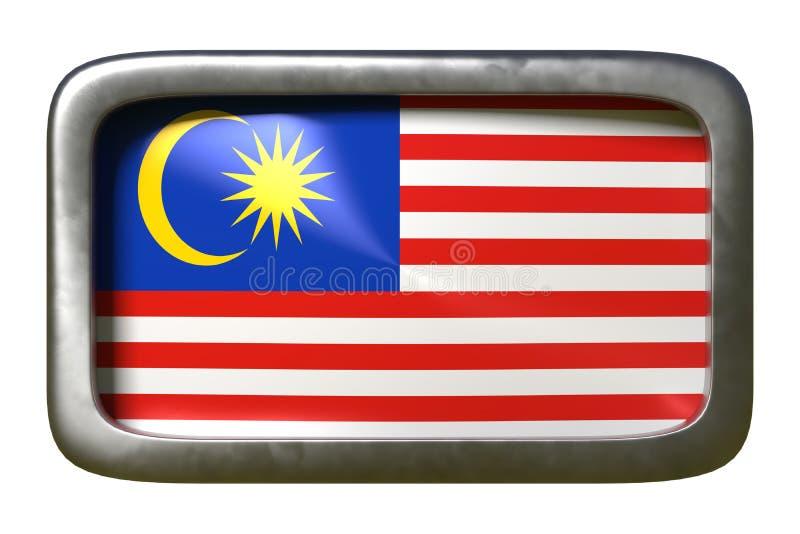 马来西亚旗子标志 皇族释放例证