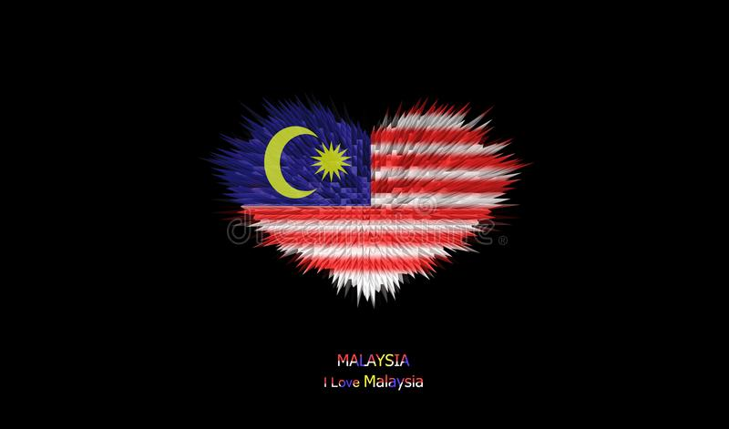 马来西亚旗子的心脏 皇族释放例证