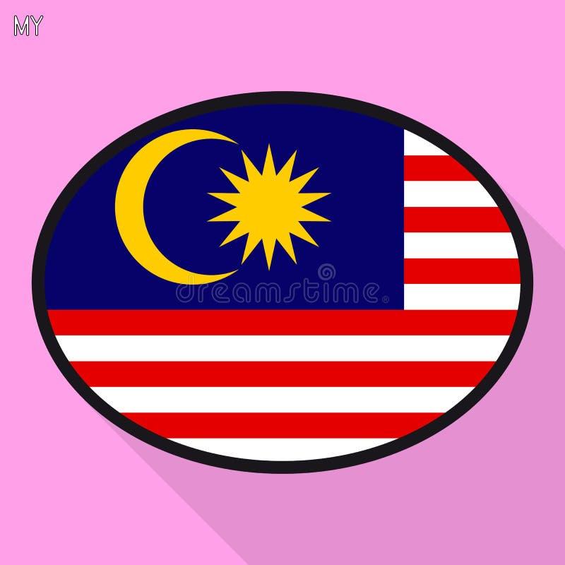 马来西亚旗子讲话泡影,社会媒介通信标志, fl 库存例证