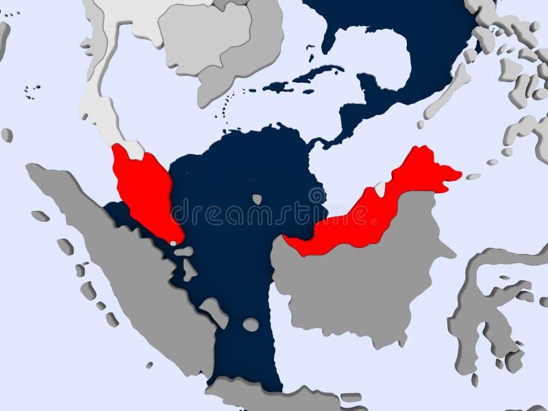 马来西亚映射 库存例证