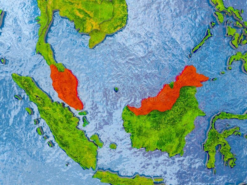 马来西亚映射 向量例证