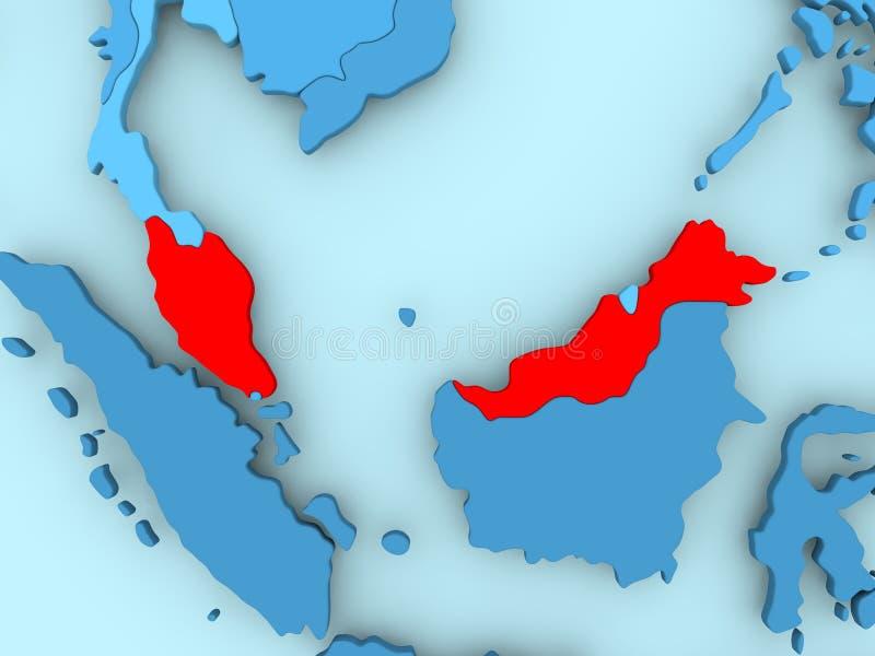 马来西亚映射 皇族释放例证