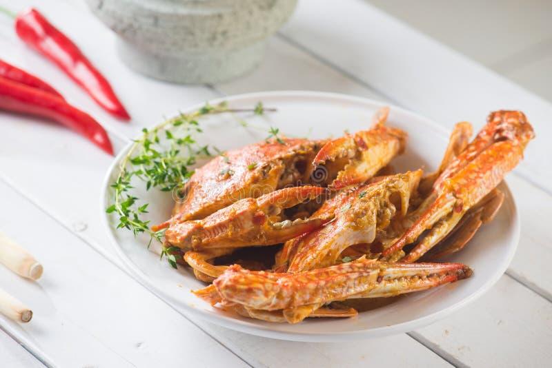 马来西亚样式辣螃蟹 免版税图库摄影