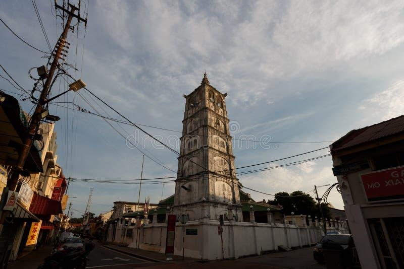 马来西亚梅拉卡老穆斯林清真寺 库存照片