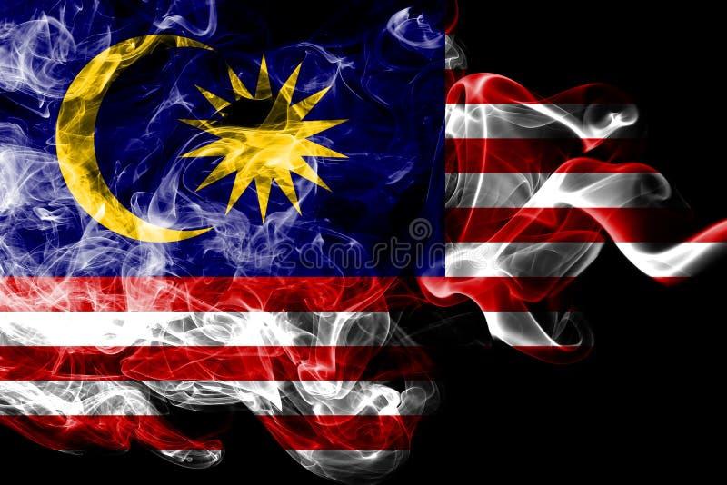 马来西亚烟旗子 库存例证