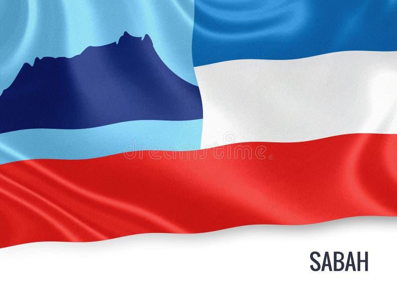 马来西亚状态沙巴旗子 库存例证
