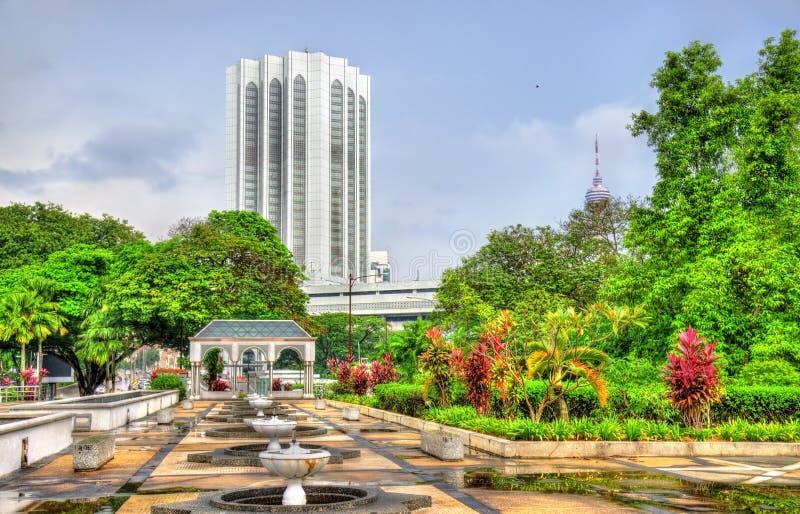 从马来西亚的全国清真寺的看法在吉隆坡 库存图片