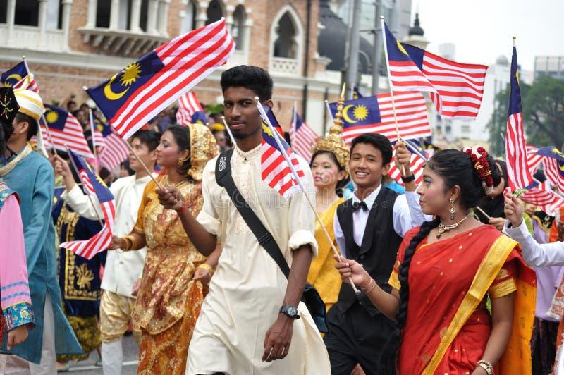 马来西亚第57美国独立日游行 免版税库存照片