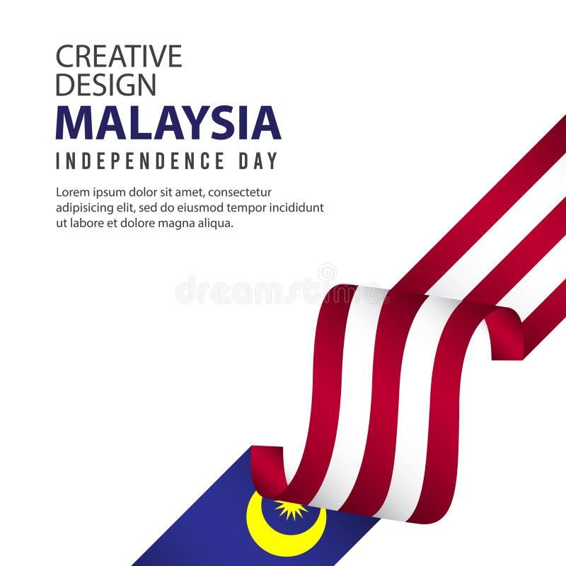 马来西亚美国独立日庆祝创造性的设计例证传染媒介模板 皇族释放例证