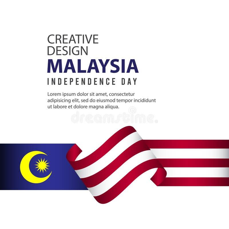 马来西亚美国独立日庆祝创造性的设计例证传染媒介模板 向量例证