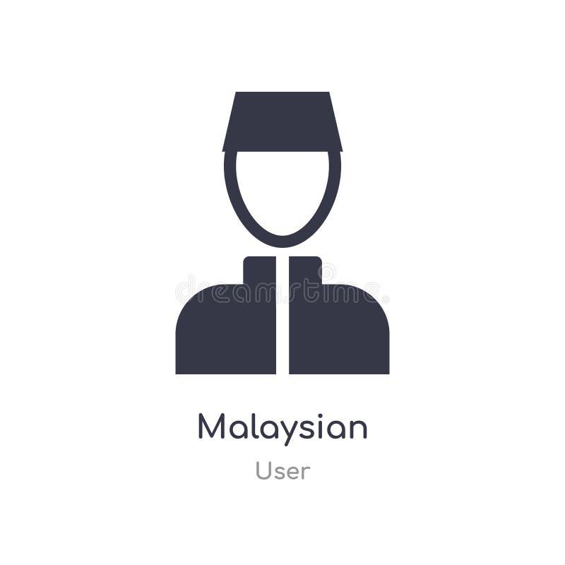 马来西亚象 从用户汇集的被隔绝的马来西亚象传染媒介例证 编辑可能唱标志可以是网站的用途和 库存例证