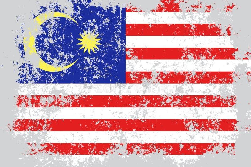 马来西亚难看的东西,老,被抓的样式旗子 向量例证