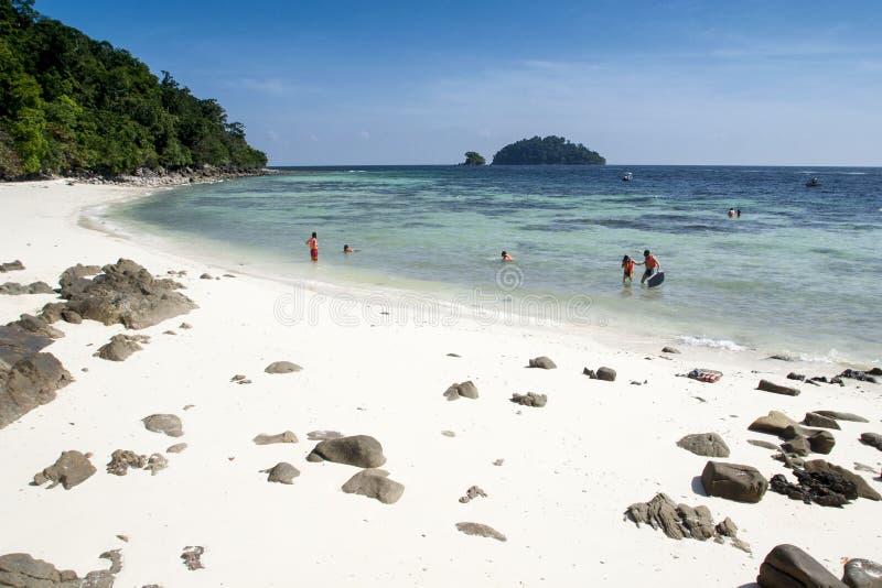 马来西亚,凌家卫岛海岛 库存照片