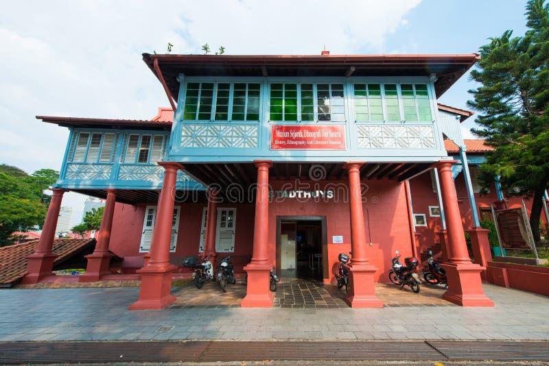 马来西亚- 2017年2月10日: :马六甲地方Stadthuys v的 免版税库存图片