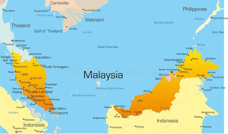马来西亚 库存例证