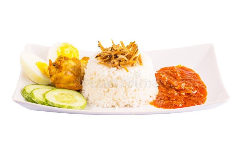 马来西亚Nasi Lemak VIII 免版税库存图片