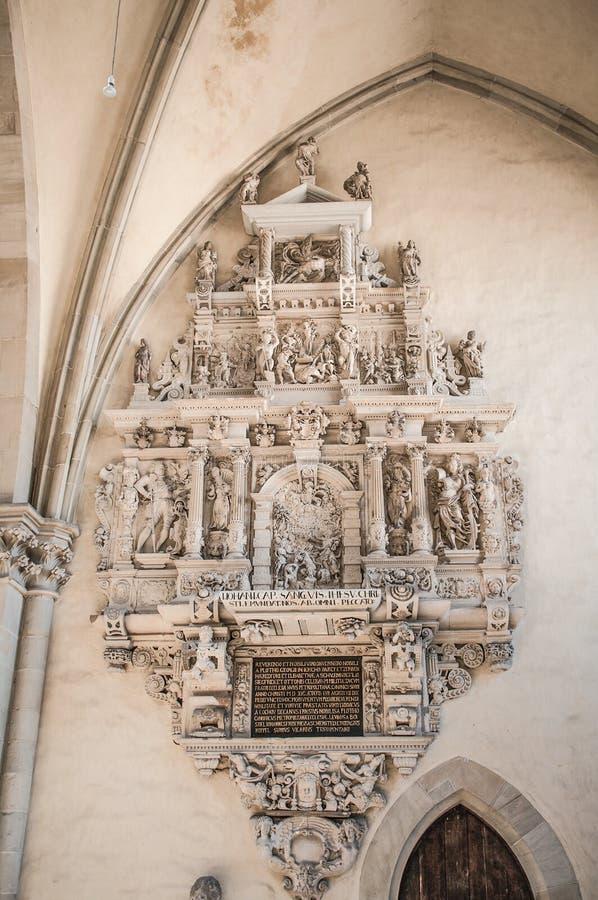 马格德堡的大教堂,马格德堡,德国内部  图库摄影