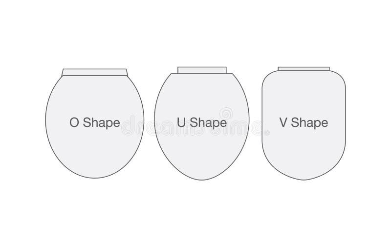 马桶盖子形状  向量例证