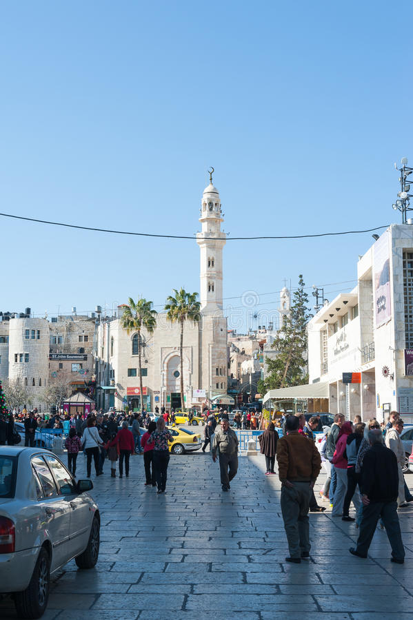 马槽广场在Betlehem 库存图片