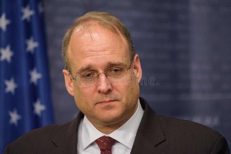 马歇尔Billingslea,恐怖分子财务的辅助秘书 图库摄影