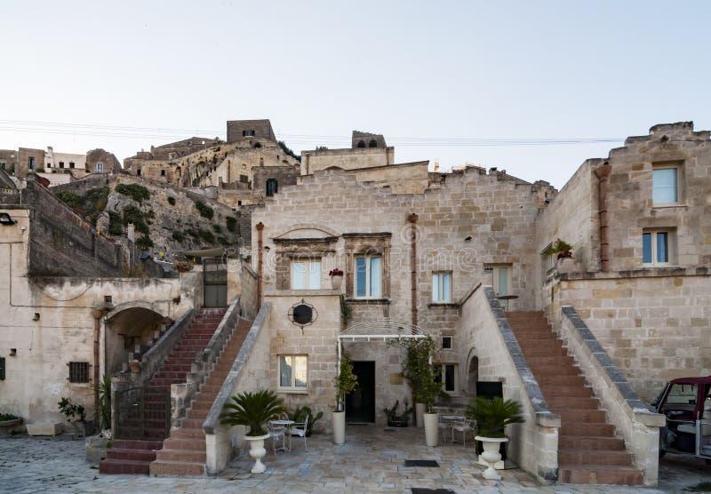 马泰拉,i Sassi,意大利老镇  库存图片