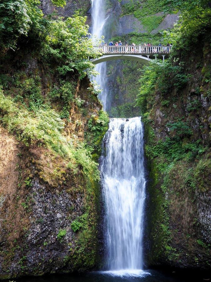 马特诺玛瀑布,俄勒冈 库存照片