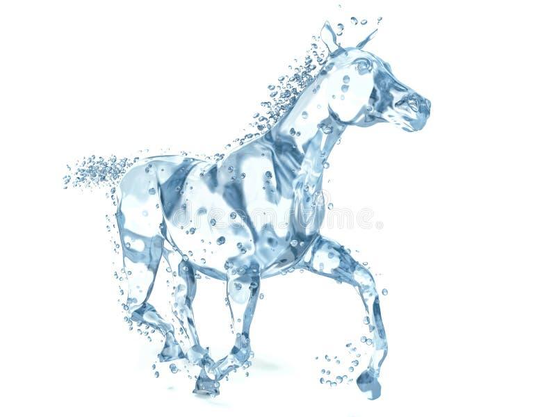 马由水制成 3d例证 库存例证