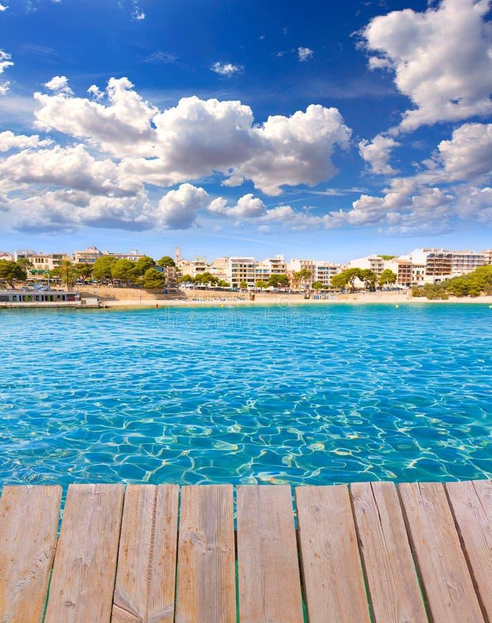 马略卡波尔图克里斯多海滩在马略卡的马纳科尔 库存图片
