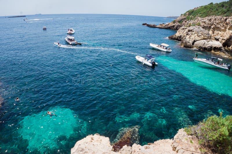 马略卡海岛是最大巴利阿里群岛 库存图片