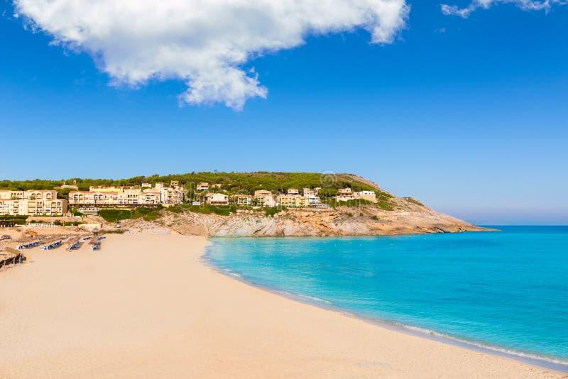 马略卡Cala Mesquida海滩在拜雷阿尔斯的马略卡 免版税库存图片