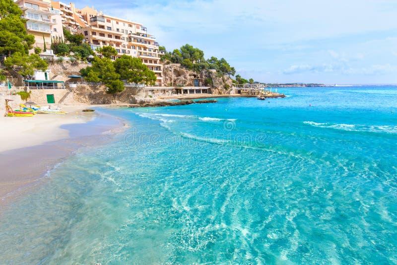马略卡Playa de Illetas海滩马略卡Calvia 库存照片