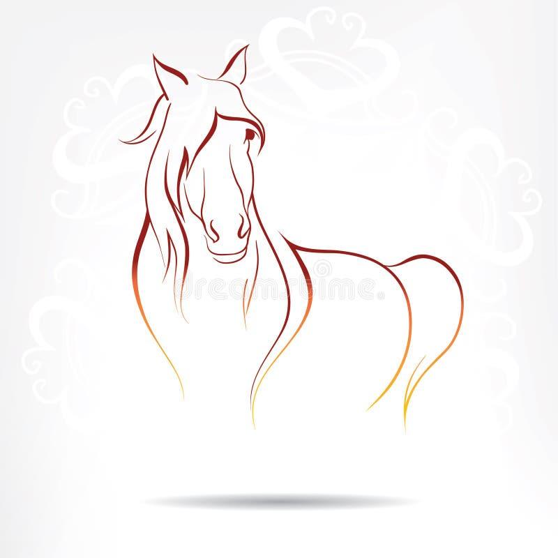 马的传染媒介图象 向量例证