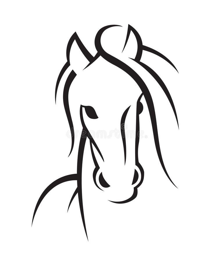 马的图象 库存例证