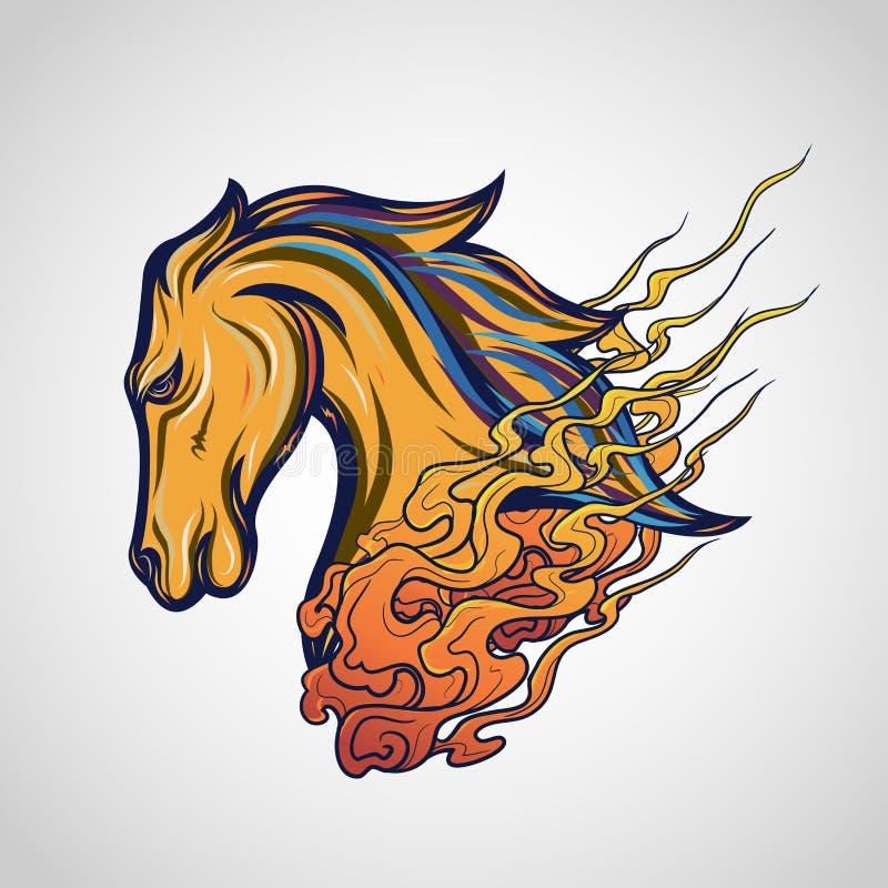 马纹身花刺商标传染媒介象 库存照片