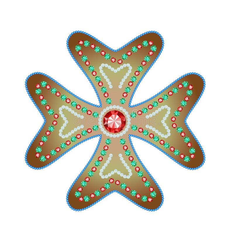 马耳他十字形 向量例证