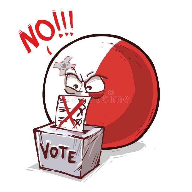 马耳他投反对票国家的球 向量例证