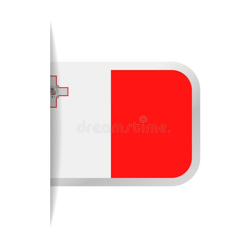 马耳他旗子传染媒介书签象 皇族释放例证