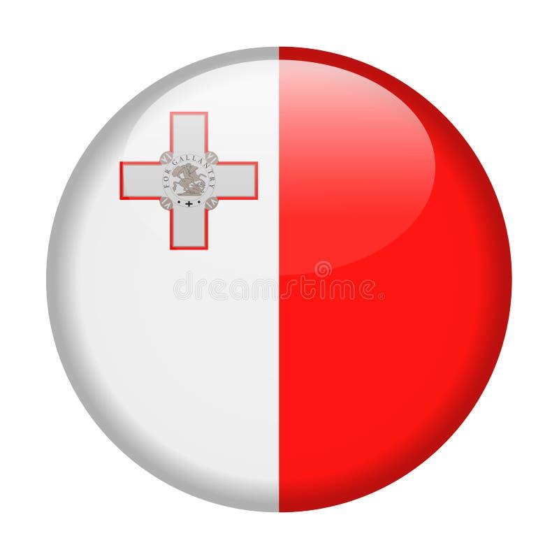 马耳他旗子传染媒介圆的象 向量例证