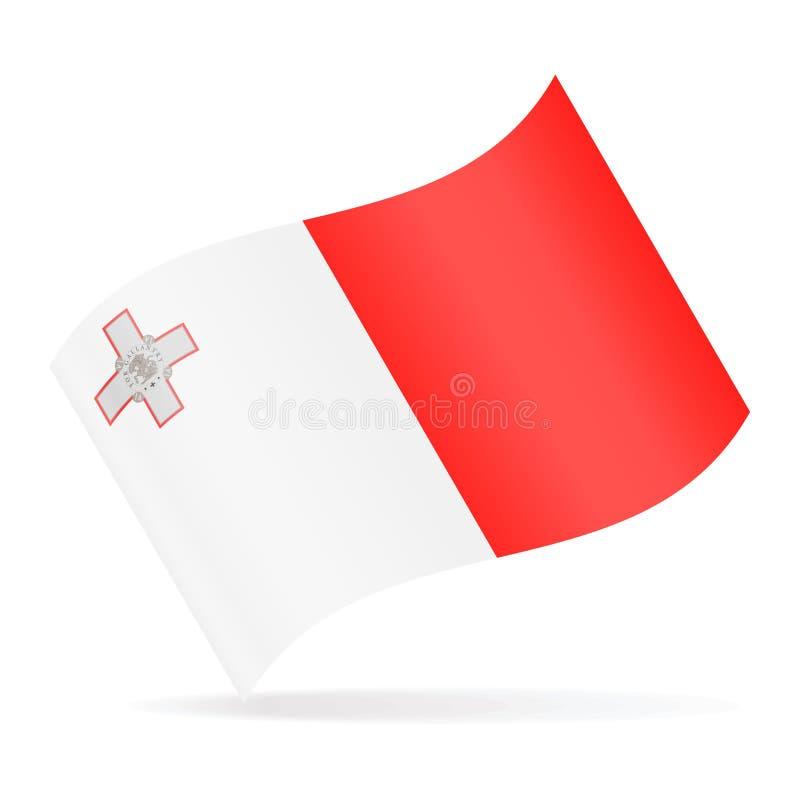 马耳他旗子传染媒介挥动的象 皇族释放例证