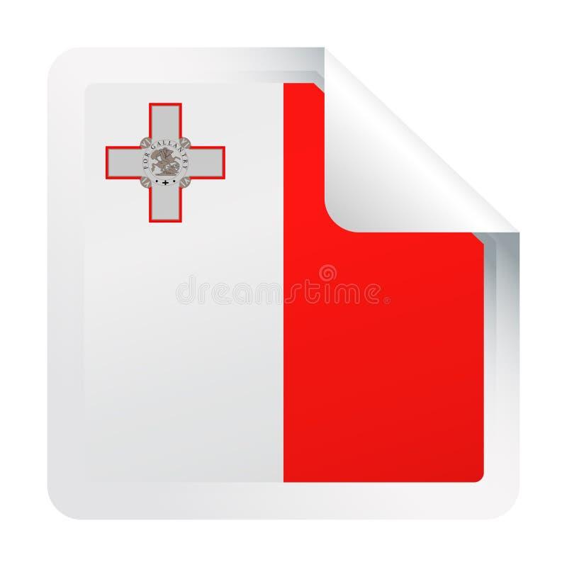 马耳他旗子传染媒介方角纸象 向量例证
