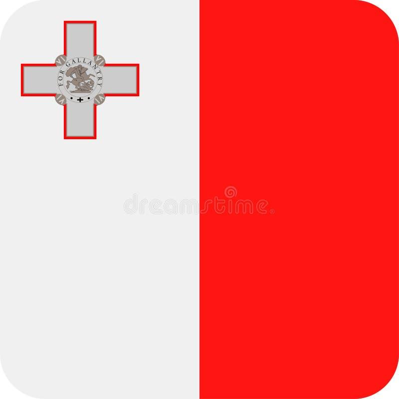 马耳他旗子传染媒介正方形平的象 皇族释放例证