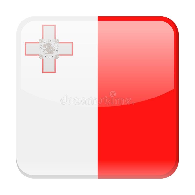 马耳他旗子传染媒介正方形象 库存例证