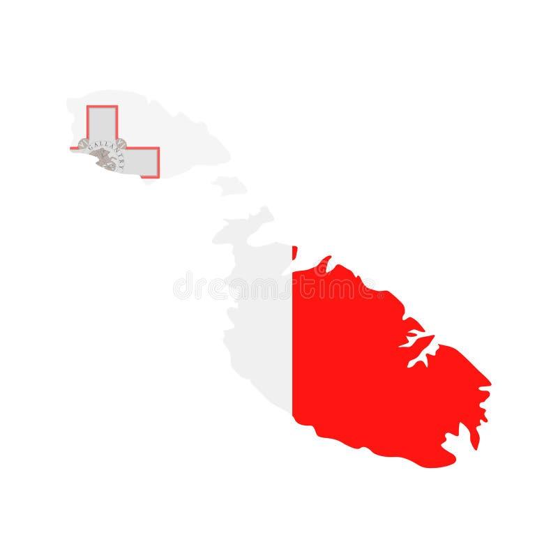 马耳他旗子国家等高传染媒介象 库存例证