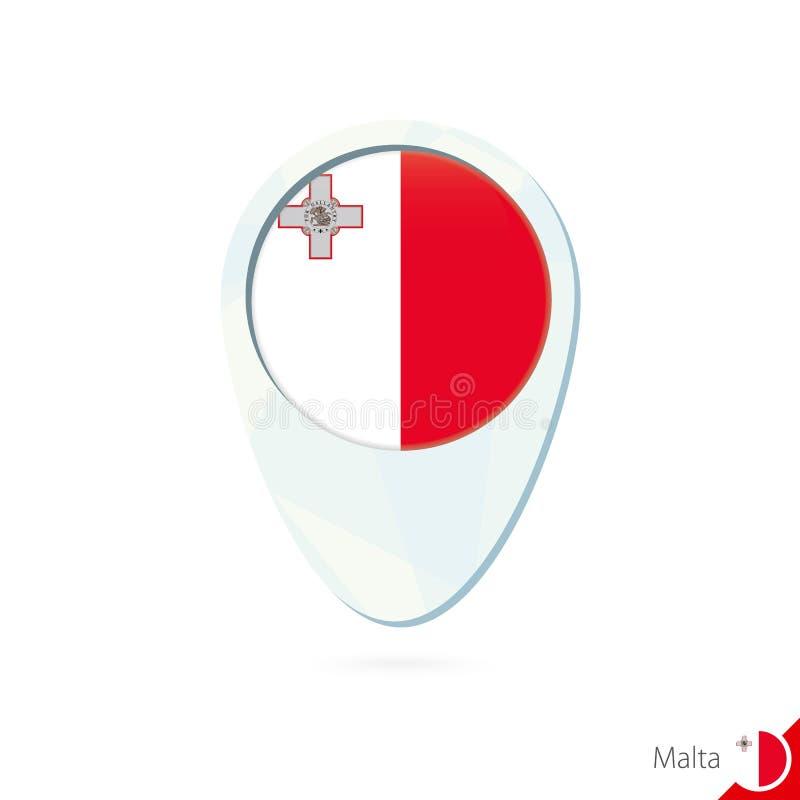 马耳他旗子定位图在白色背景的别针象 皇族释放例证
