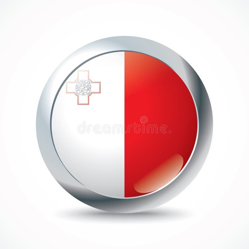 马耳他旗子按钮 皇族释放例证