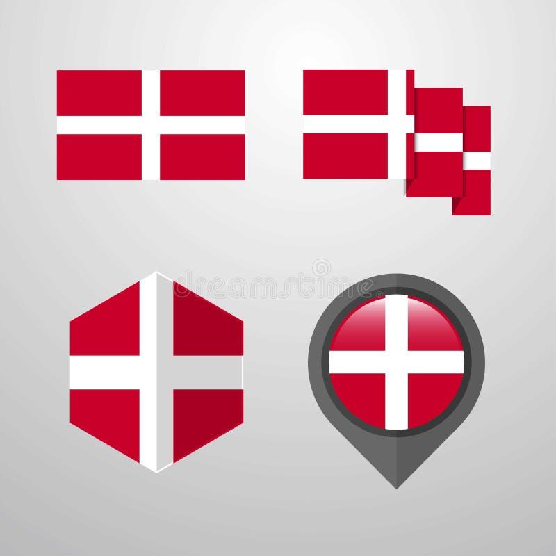 马耳他旗子设计集合传染媒介宗主军事命令  库存例证
