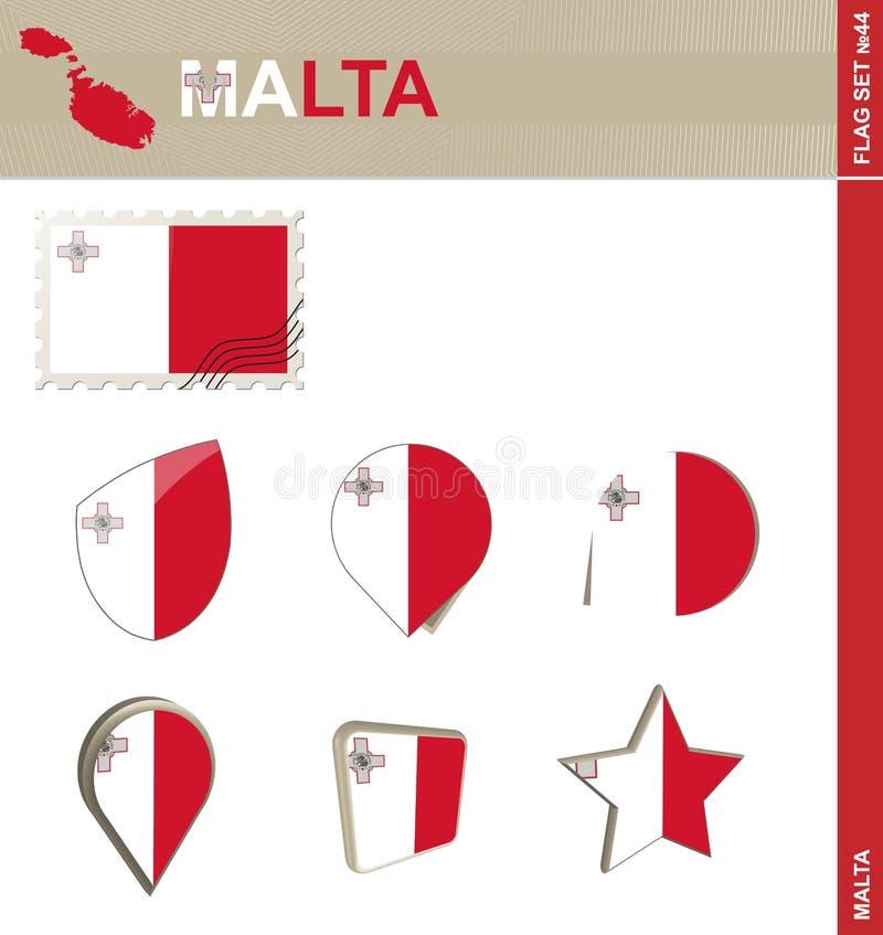 马耳他旗子集合,旗子集合#44 库存例证