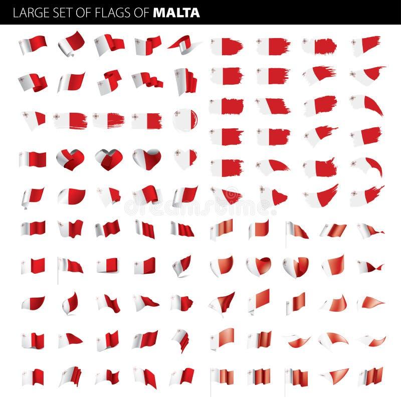 马耳他旗子,传染媒介例证 库存例证