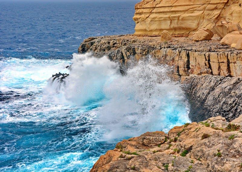 马耳他蓝色洞穴 免版税图库摄影